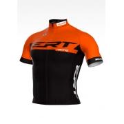 Camisa de Ciclismo ERT New Elite Racing Cor Laranja e Preta - Vários Tamanhos