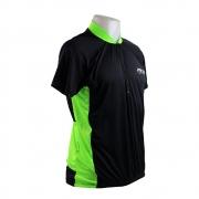 Camisa de Ciclismo Manga Curta Hold Sports Proteção UV Preto e Verde - Vários Tamanhos