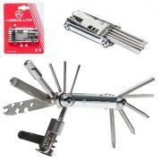 Canivete Multi-função Absolute 12 Funções Com Extrator Pino Corrente para Bicicletas