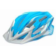 Capacete Bike Prowell F44 Matt Cor Azul Tamanho G Com Viseira Blading
