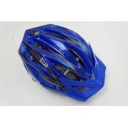 Capacete Bike Prowell F44 Blading Cor Azul Escuro Tamanho G Com Viseira