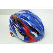Capacete Para Bicicleta Marca Prowell R66 Rbw Blading Cor Azul Tamanho M