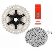 Cassete Bicicleta Sunrace MS3 11-42 10 Velocidades + Corrente 116 Elos com Power link