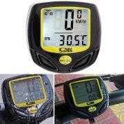 Ciclocomputador Velocimetro Bicicleta Sunding SD-548C 14 funções Wireless Sem Fio