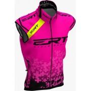 Colete Corta Vento Ert Bike Team Rosa 2020 Mtb Speed Com Refletivo