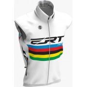 Colete Corta Vento Ert Bike Campeão Mundial Branco Mtb Speed