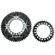 Coroas Dupla Bicicleta Speed Nottable 52-36 para Pedivelas 4-5 Furos BCD 110mm Serve Shimano Tiagra 105 Ultegra Dura-ace