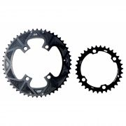 Coroas Dupla Bicicleta Speed Nottable 50-34 para Pedivelas 4 Furos BCD 110mm Serve Shimano Tiagra 105 Ultegra Dura-ace