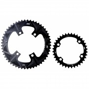 Coroas Dupla Bicicleta Speed Nottable 52-36 para Pedivelas 4 Furos BCD 110mm Serve Shimano 105 Ultegra Dura-ace