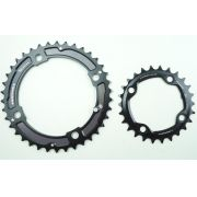 Coroas Pedivela Mtb Race Face Turbine 38 e 26 dentes 2x10 Bcd 120/80mm Serve em Sram XX