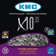 Corrente Bicicleta KMC X10 Prata 10 velocidades 116 links