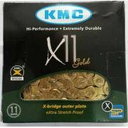 Corrente Bicicleta KMC X11 Dourada 11 velocidades 116 links