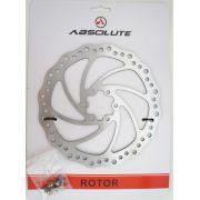 Disco De Freio Rotor Absolute 180mm 6 Furos em Aço pra Bicicletas