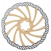 Disco Rotor Freio à Disco Bicicleta Bengal 203mm Cor Dourado Em Inox 6 Furos