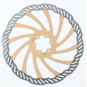 Disco Rotor Freio Bengal 203mm Cor Dourado Em Inox 6 Furos