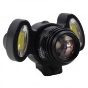 Farol Lanterna Bicicleta JY-8858 3 Focos Led T6 Q5 Cree Com Zoom Recarregável