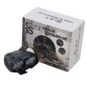 Farol para Bicicletas JWS WS-139 com 4 Super Leds Cree T6 Bateria Externa Recarregável de 6 células