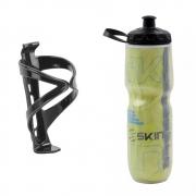 Garrafa Caramanhola IsoTérmica para Bicicleta Skin 710ml Boca Larga com Suporte de Quadro