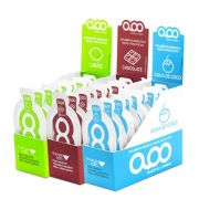Gel AOO Energy Display com 10 unidades Sabores Chocolate - Água de Côco - Limão