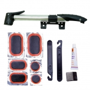 Kit de Reparo Pneus com Câmara de ar com Mini Bomba GTS Presta Schrader 80psi