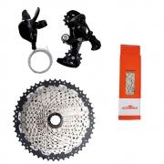 Kit Grupo 1x12v Absolute 4 peças com Cassete 11x50 Sunshine 12v Bike