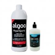 Kit Óleo Lubrificante Algoo Lube Cera Seco 200ml e Desengraxante Multi-Uso Algoo 1 litro Concentrado