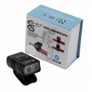 Lanterna Farol Dianteiro para Bicicleta JWS WS-208 Super Led 400 Lumens Preto Recarregavél