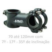 Mesa Bicicleta Mtb Uno 31.8mm AS021 Cor Preta Aluminio Várias Medidas e Inclinações