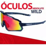 Óculos Ciclismo Absolute Wild Preto Lente Multicolor 400uv Polarizado Bike