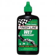 Óleo Lubrificante de Corrente Finish Line Cross Country Úmido Wet 60ml Verde Ideal Para Lama Chuva Barro