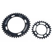 Par de Coroas MTB Rotor Ovais 40 e 27 dentes Bcd 120mm Serve Sram XX