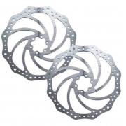 Par de Discos De Freio Rotor Absolute DB01 160mm 6 Furos em Aço pra Bicicletas