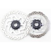 Par de Discos De Freio Rotor Shimano RT10 Inox 180/160mm Para Freios à Disco Fixação Center Lock - USADO