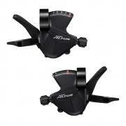 Par de Passadores Marchas Shimano SL-M2010 2x9 Com Abraçadeira