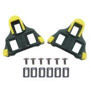 Par de Taquinhos Shimano Sh11 Amarelo para Pedal Clip Para Sapatilhas Speed