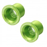 Parafuso Pedivela Cannondale Hollowgram SI Cor Verde - Kit com 2