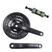 Pedivela Bicicleta Mountain-Bike GTS Element 42-34-24 dentes 170mm para 6-7-8 velocidades com Movimento