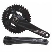 Pedivela Bicicleta Mtb X-time Coroas 38 e 28 dentes 175mm Eixo Integrado 2x10 ou 11v