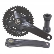 Pedivela Triplo Mtb Shimano Altus MT200 9v Coroas 40-30-22 175mm Integrado com Movimento
