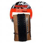 Pneu Mtb Maxxis Rekon Race 29 2.35 Tubeless Ready Exo Protection em Kevlar 60 TPI Tanwall Faixa Marrom