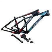 Quadro 29 Bicicleta MTB Lenister Carbono Tam 19 + Kit Selim Canote Caixa Direção
