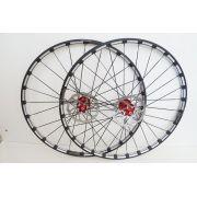 Roda Vicinitech Black 29 XCV Disc Aro 29 Alumino Preto e com Cubo Vermelho