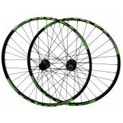Rodas MTB Sentec Comp Disc Aro 29 Alumino Tubeless Eixo 142x12mm 15x100mm Padrão Shimano