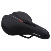 Selim Bicicleta Absolute Supersoft City Feminino Vazado Preto para Speed ou MTB 250mm