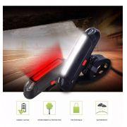 Sinalizador com Led 100 Lumens JWS WS-212 Recarregável USB Led Vermelho e Branco 5 Modos Super Forte