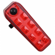 Sinalizador com Led JWS WS-211 Recarregável USB 8 Leds Pisca Vermelho 5 Modos Super Forte