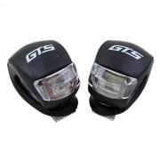 Sinalizador Dianteiro e Traseiro GTS para Bicicletas em Silicone Luz Noturna com 2 Leds Branco e Vermelho