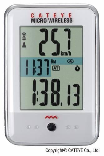 Ciclocomputador Cateye Mc200w Micro Wireless Branco Sem Fio