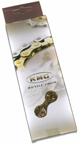 Corrente Bicicleta Kmc X8 Dourada 8v 116 Links Missing Link