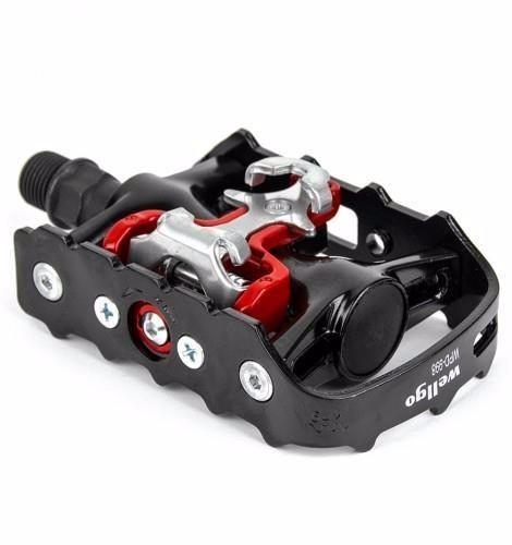 Pedal Clip Mtb Wellgo M-998 Com Plataforma E Encaixe Clip